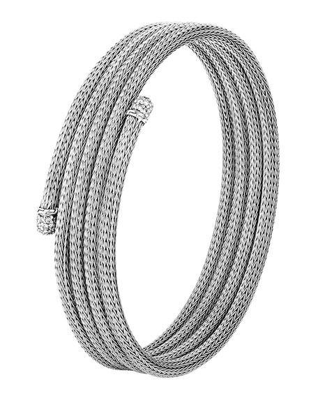 John Hardy Classic Chain Small Diamond Coil Bracelet,