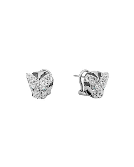 John Hardy Classic Chain Diamond Macan Stud Earrings