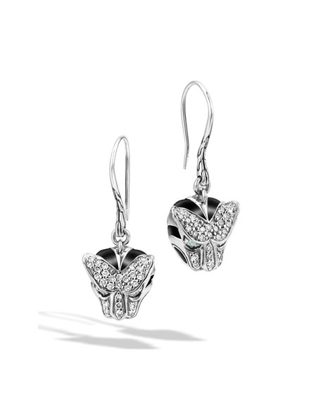John Hardy Classic Chain Macan Diamond Earrings