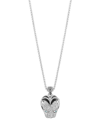 Classic Chain Macan Diamond Pendant Necklace