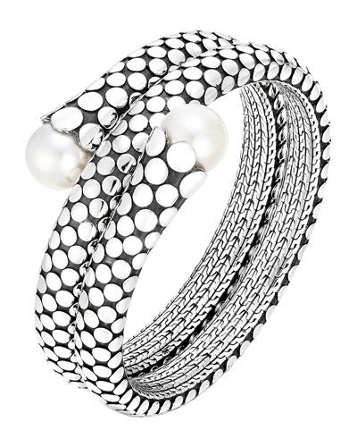 Dot Pearl Double Coil Bracelet, Size M