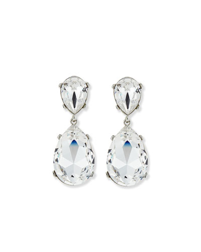 Double Teardrop Dangle Earrings