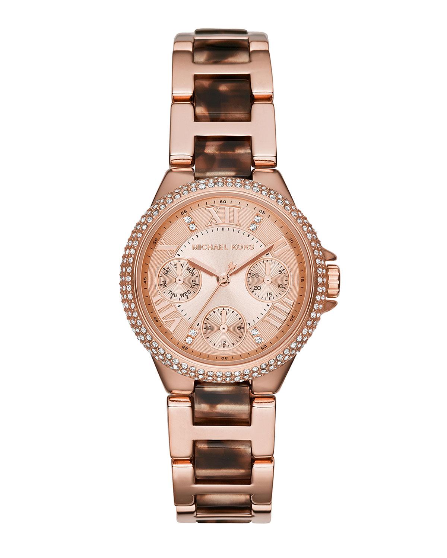 9ed9be8b9234 Michael Kors 33mm Mini Camille Glitz Watch