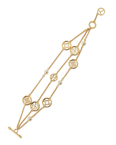 Triple-Strand Charm Bracelet