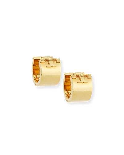 T-Logo Huggie Hoop Earrings