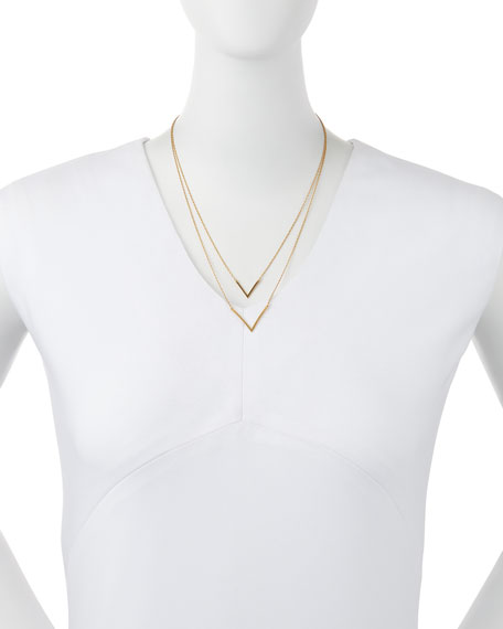 Tila Double V Gold Vermeil Necklace