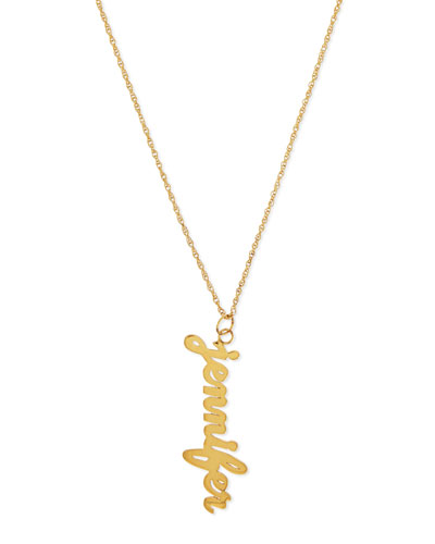 Serafina Vertical Gold Vermeil Necklace