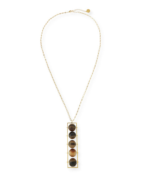 NEST Jewelry Abacus 5-Bead Horn Pendant Necklace
