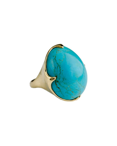 18k Rock Candy Crown Ring in Turquoise