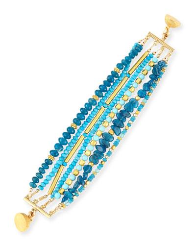 Turquoise & Apatite Beaded Bracelet