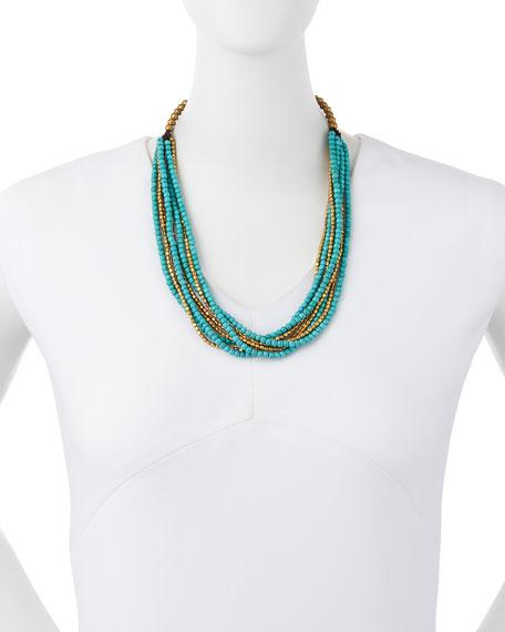 Turquoise Magnesite Multi-Strand Necklace