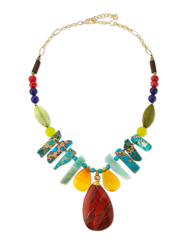 Turquoise Magnesite & Jasper Statement Necklace