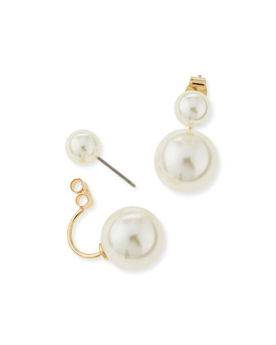 Double-Pearly Jacket Earrings