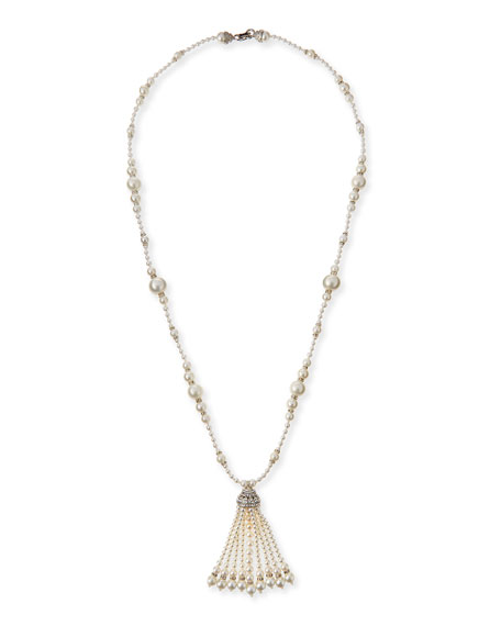 Jose & Maria Barrera Long Simulated Pearl Tassel