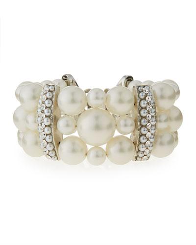 Three-Strand Simulated Pearl Bracelet
