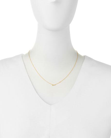 Arrow Bezel-Diamond Pendant Necklace