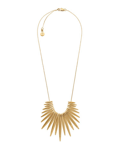 Golden Tribal Pendant Necklace