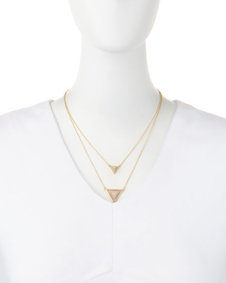 Temple Rose Quartz Layered Necklace