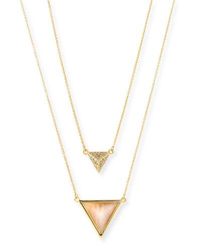 Temple Rose Quartz Layered Necklace