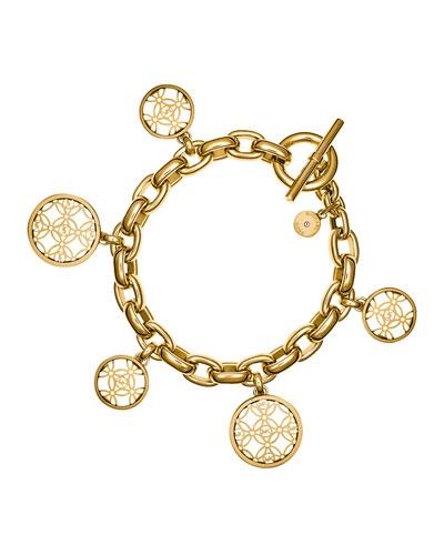 MK Monogram Disc Charm Bracelet