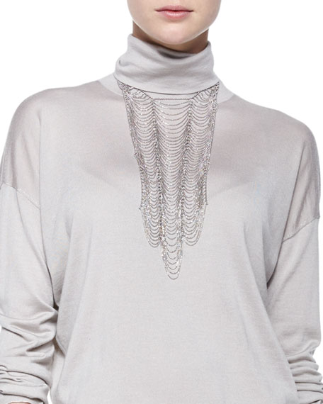 Brunello Cucinelli Scalloped Breastplate Necklace