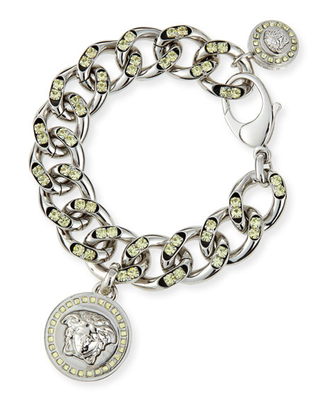 Oversized Crystal Link Bracelet