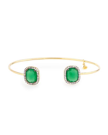 TaiPalace Glass & Pave Pinch Bracelet
