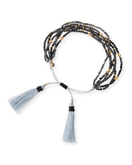 Multi-Strand Hematite Beaded Bracelet, Black
