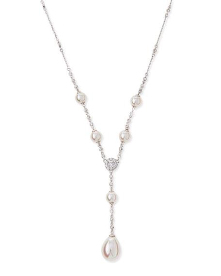 Majorica Pearl & Cubic Zirconia Y-Necklace