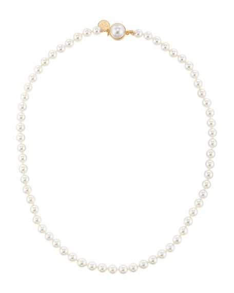 Majorica 6mm Pearl Necklace with Mabe Clasp, 18