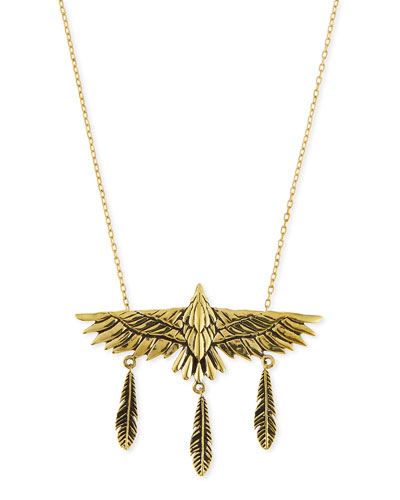 Aguila Brass Eagle Pendant Necklace
