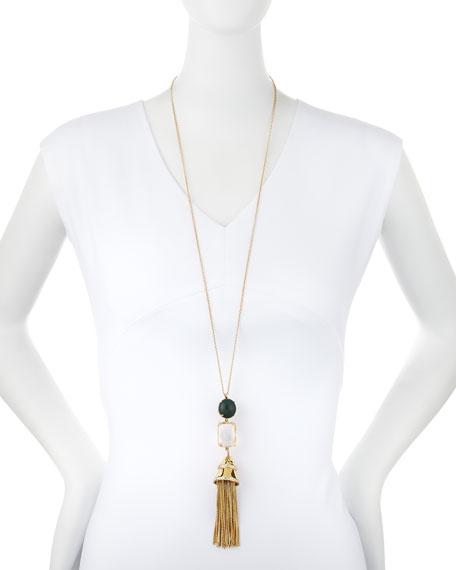 Sands of Time Fishtail Tassel Pendant Necklace