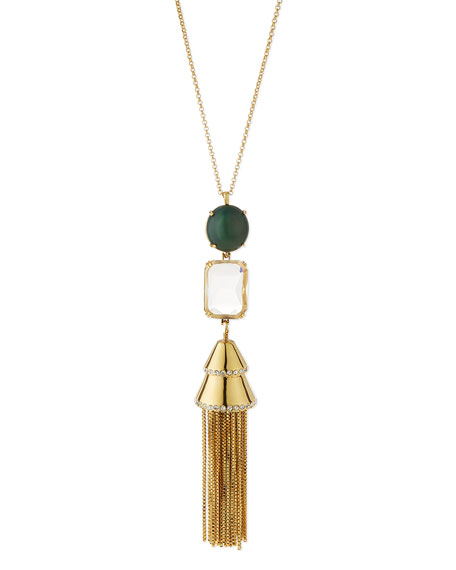 Lele SadoughiSands of Time Fishtail Tassel Pendant Necklace