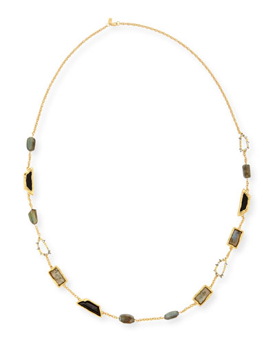 Elements Fancy-Cut Station Necklace, 42""