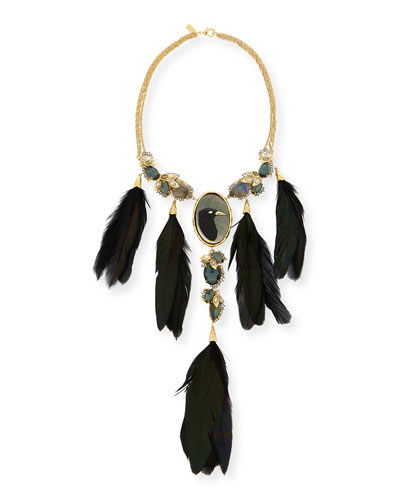 Elements Large Raven Feather Necklace