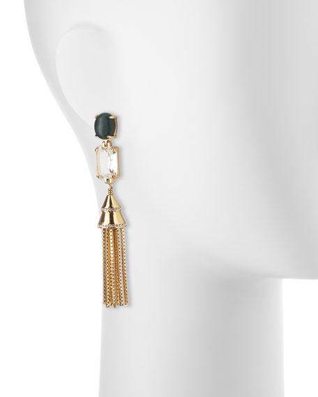 Sands of Time Fishtail Tassel Chain Earrings
