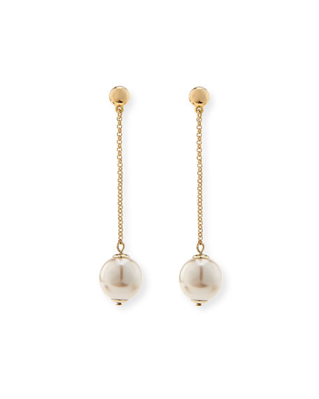 Image 1 of 2: Sands of Time Pendulum Pearly Drop Earrings