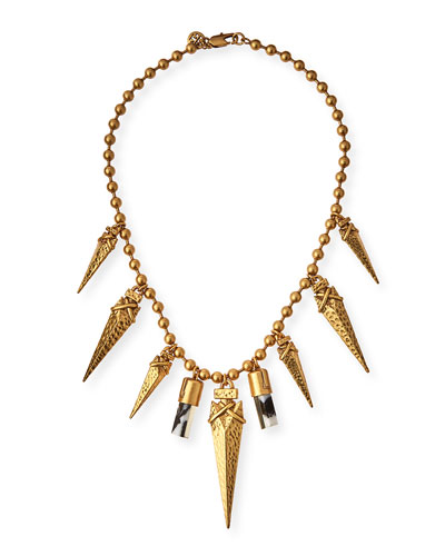 Golden Arrowhead Short Necklace