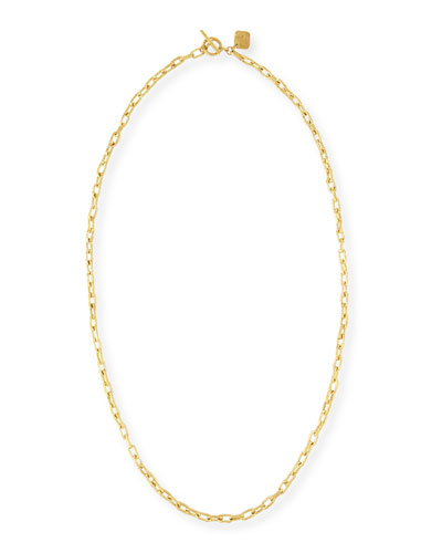 Hammered Bronze Toggle Chain Necklace