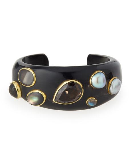 Ashley Pittman Sifa Dark Horn Cuff Bracelet