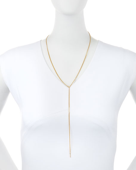Olga 18k Gold Vermeil Lariat Necklace
