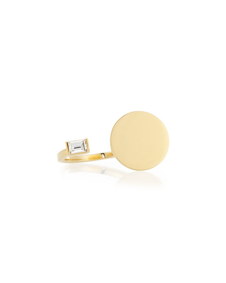 Jennifer Zeuner Fable Gold Vermeil and Sapphire Ring