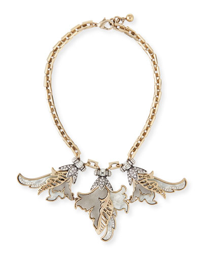 Nightshade Crystal Statement Necklace