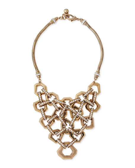 Lulu Frost Narcissus Crystal Bib Necklace