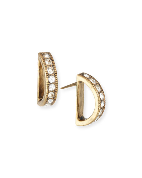 Lulu Frost Veratrum Small Crystal Stud Earrings