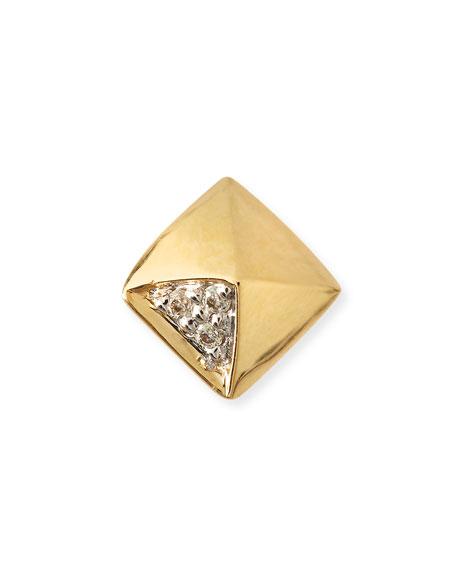 Sydney EvanGold & Diamond Pyramid Single Stud Earring