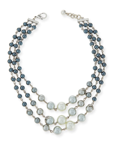 Ombre Simulated-Pearl Statement Necklace