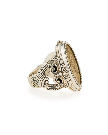 Silver & Bronze Demeter Coin Ring
