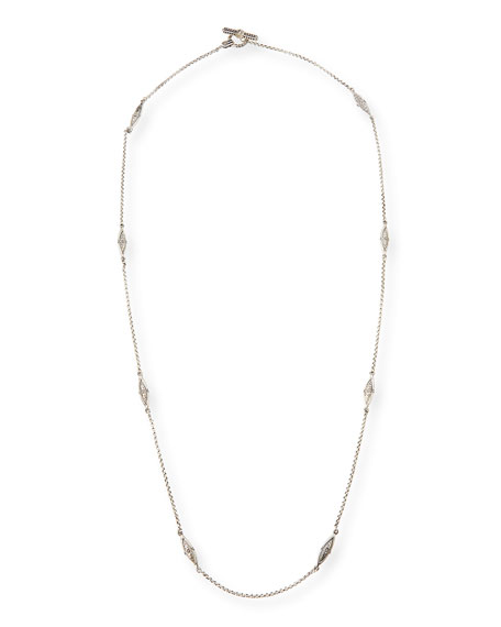 Sterling Silver Eight-Station Long Necklace, 36""