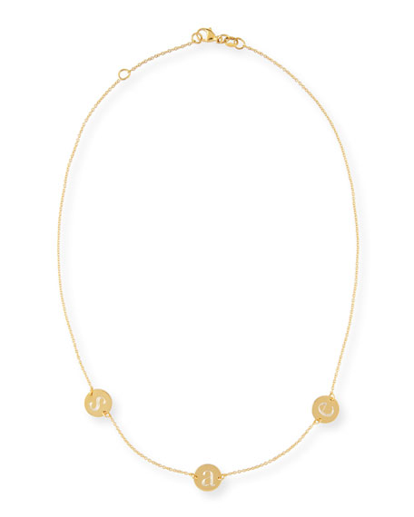 Cara Three-Initial Engraved Necklace